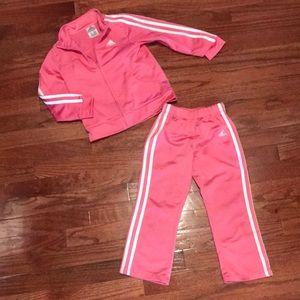 Toddler girls Adidas track suit